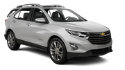 HERTZ Car rental Sacramento Int'l Airport Suv car - Chevrolet Equinox