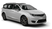 BUDGET Car rental Fullerton - La Mancha Shopping Center Van car - Chrysler Pacifica