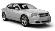 BUDGET Car rental Sacramento Int'l Airport Standard car - Dodge Avenger