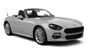 SIXT Car rental Faro - Airport Convertible car - Fiat 124 Spider
