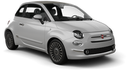 AVIS Car rental Huddersfield Mini car - Fiat 500