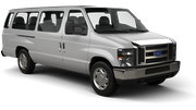 ACE Car rental Sacramento Int'l Airport Van car - Ford Club Wagon