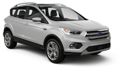 BUDGET Car rental Sacramento Int'l Airport Suv car - Ford Escape
