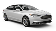 BUDGET Car rental Fullerton - La Mancha Shopping Center Fullsize car - Ford Fusion