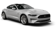 BUDGET Car rental Sacramento Int'l Airport Convertible car - Ford Mustang Convertible