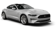 BUDGET Car rental Calgary - Airport Convertible car - Ford Mustang Convertible