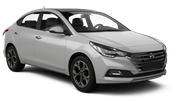BUDGET Car rental Canberra - Downtown Economy car - Hyundai Accent