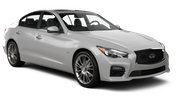 AVIS Car rental Dubai - Jebel Ali Free Zone Luxury car - Infiniti Q50