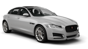 HERTZ Car rental Newark International Airport New Jersey Fullsize car - Jaguar XF