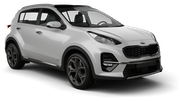 INTERRENT Car rental Dubai - Intl Airport Suv car - Kia Sportage