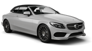 HERTZ Car rental Paphos City Luxury car - Mercedes C Class Convertible
