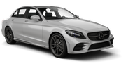 HERTZ Car rental Lincoln Fullsize car - Mercedes C Class