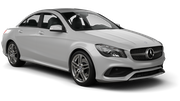 HERTZ Car rental Sacramento Int'l Airport Luxury car - Mercedes CLA