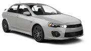 BUDGET Car rental Aruba - Resorts Area Compact car - Mitsubishi Lancer