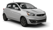 ENTERPRISE Car rental Newark International Airport New Jersey Economy car - Mitsubishi Mirage