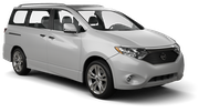 THRIFTY Car rental Newark International Airport New Jersey Van car - Nissan Quest