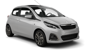 SURPRICE Car rental Cirkewwa - Downtown Economy car - Peugeot 108