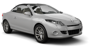 BUDGET Car rental Paphos City Convertible car - Renault Megane Convertible