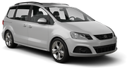 EUROPCAR Car rental Barcelona - Airport Van car - Seat Alhambra
