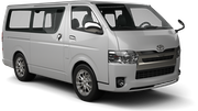 EUROPCAR Car rental Newcastle Downtown Van car - Toyota Commuter