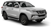 BUDGET Car rental Panama City - Hotel La Cresta Inn Suv car - Toyota Fortuner