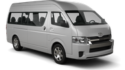 THRIFTY Car rental Panama City - Hotel La Cresta Inn Van car - Toyota Hiace