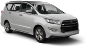 DOLLAR Car rental Al Maktoum - Intl Airport Van car - Toyota Innova