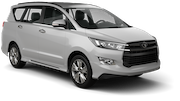 DOLLAR Car rental Abu Dhabi - Downtown Van car - Toyota Innova