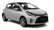 FOX Car rental Fullerton - La Mancha Shopping Center Economy car - Toyota Yaris