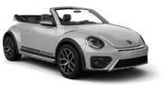 ALAMO Car rental Sacramento Int'l Airport Convertible car - Volkswagen Beetle Convertible