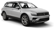 EUROPCAR Car rental Luxembourg Railway Station Suv car - Volkswagen Tiguan