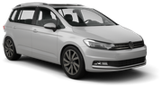 EUROPCAR Car rental Luxembourg Railway Station Van car - Volkswagen Touran